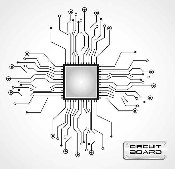 Royalty Free Computer Chip Clip Art, Vector Images