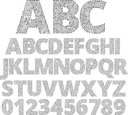 Circuit Board Custom Made Font