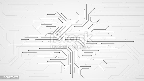 Circuit board. Electronic motherboard technology texture, communication and engineering circuitous microprocessors vector abstract concept