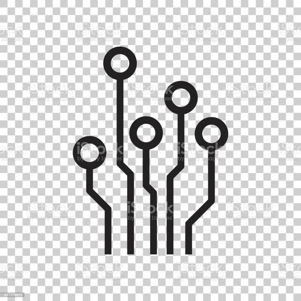 Icône De La Carte De Circuit Imprimé Technologie Schéma Symbole ...
