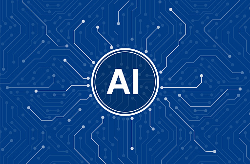 circuit board in the Cyborg brain, Artificial intelligence of digital human.