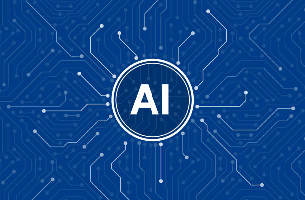 circuit board in the cyborg brain, artificial intelligence of digital human. - ai stock illustrations