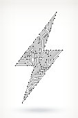 Circuit Board Lightning Bolt