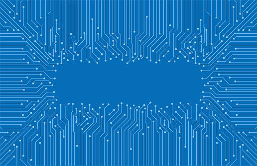 circuit board pattern, Artificial intelligence of digital human. vector illustration
