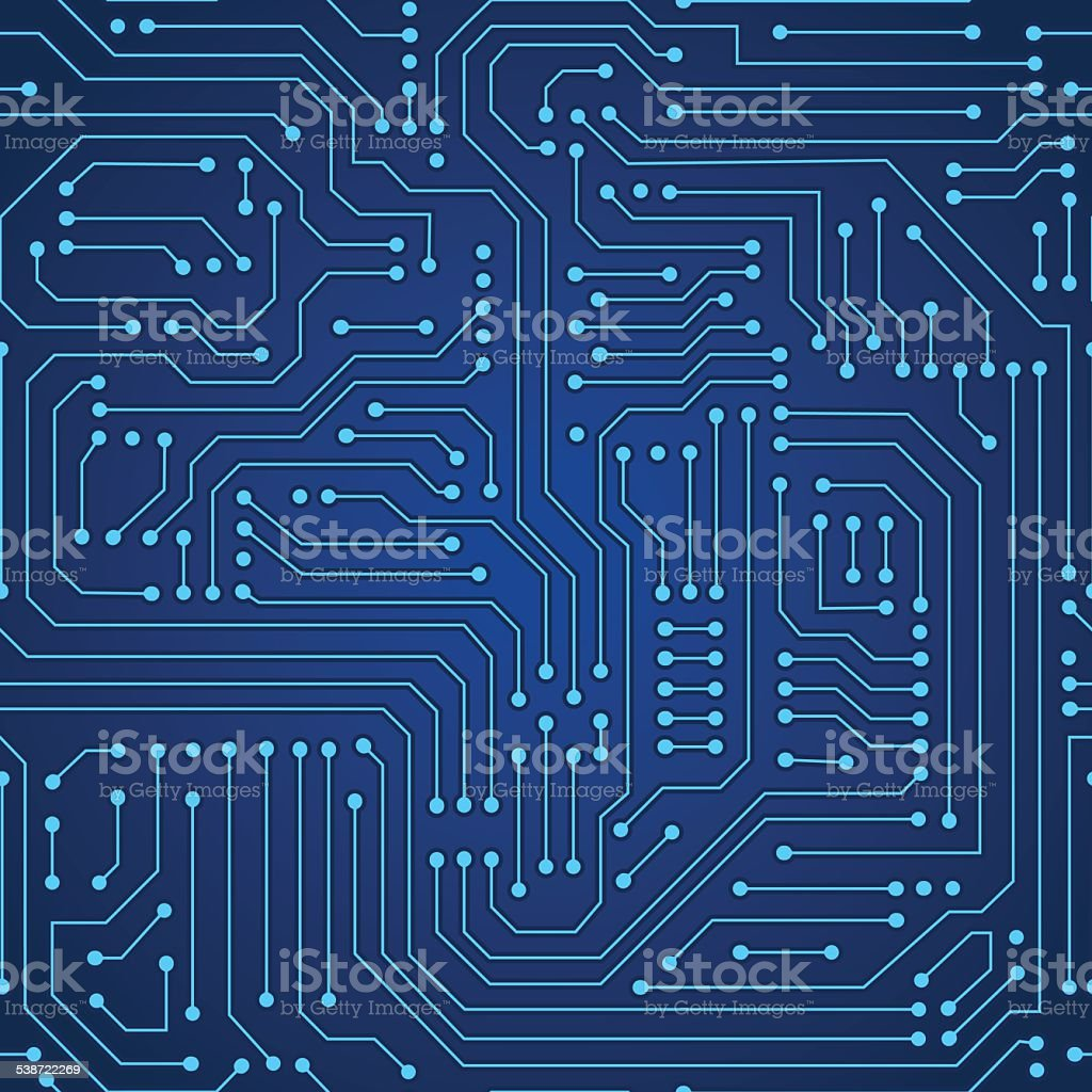 circuit board seamless pattern vector art illustration