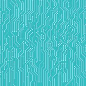 Circuit board seamless vector background.