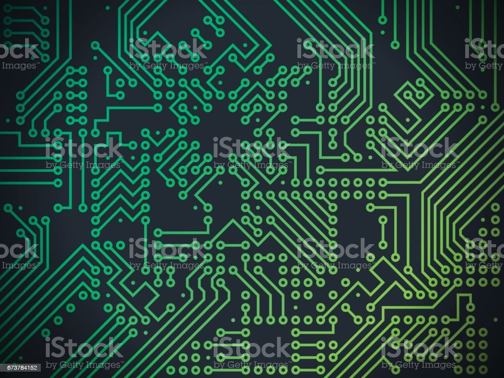Circuit Board Technology Abstract Background - Illustration vectorielle