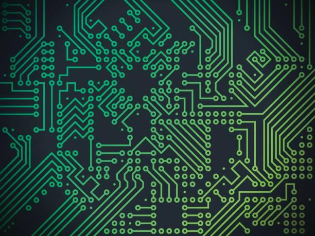 circuit board technology abstract background - предельно крупный план stock illustrations