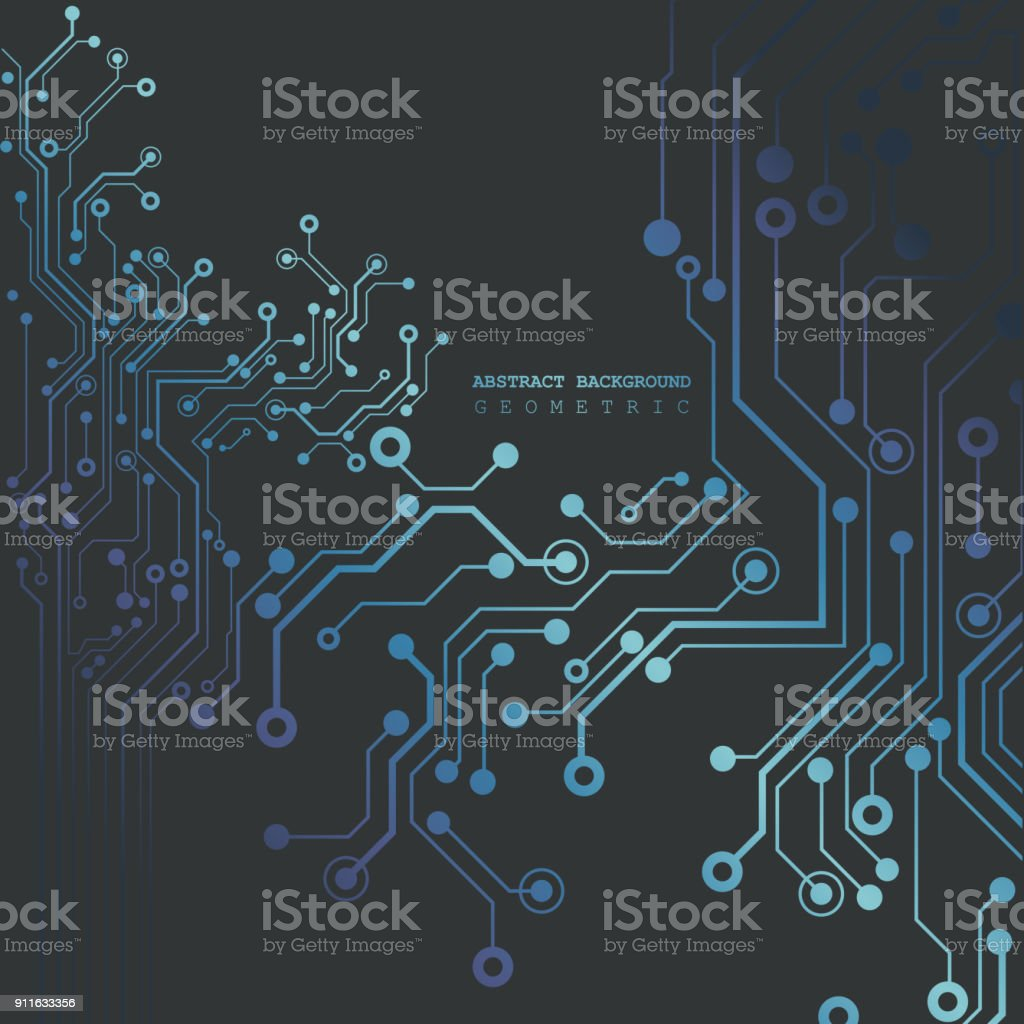 Circuit Board Technology Background Vector Illustration Stock Vector ...