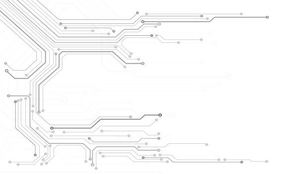 stockillustraties, clipart, cartoons en iconen met printplaat up ruimte vector technologie. - printplaat