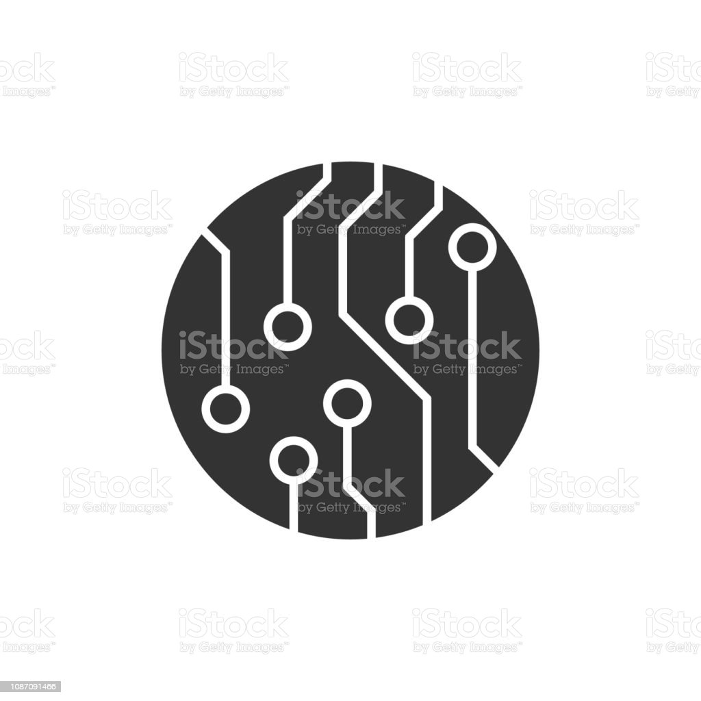 Circuit Board Technology Vector Icon For Your Web Site