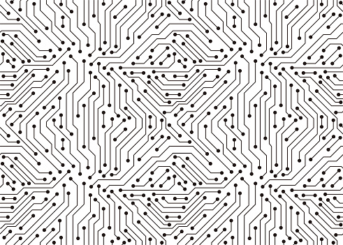 Circuit Board texture Background, seamless pattern