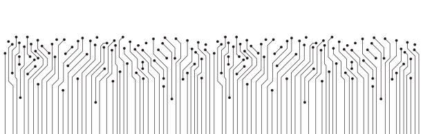 yönetim kurulu doku arka plan, seamless modeli devre - bilgisayar yongası stock illustrations