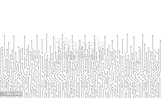 istock Circuit Board texture Background, seamless pattern 1190074593