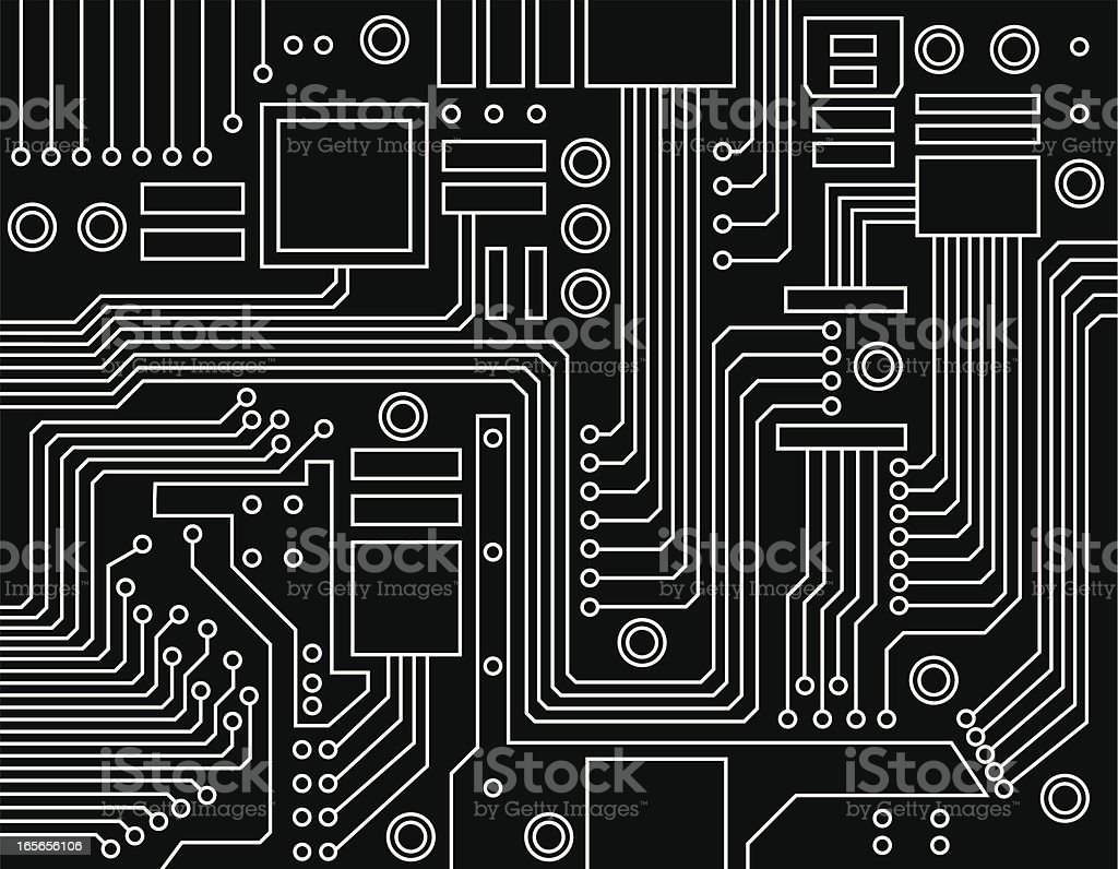 Motherboard Circuit Illustration: Circuit Board Stock Vector Art & More Images Of