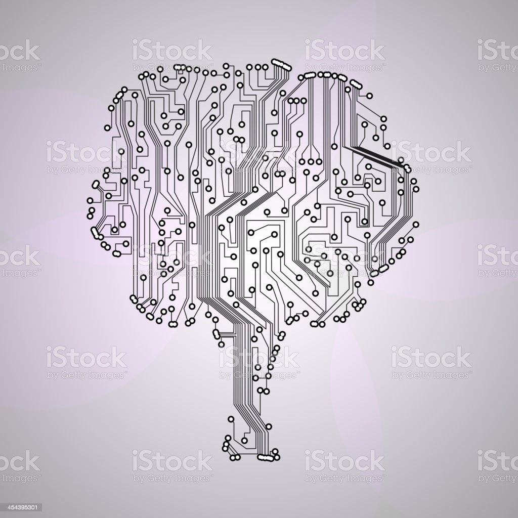 Circuit board royalty-free stock vector art