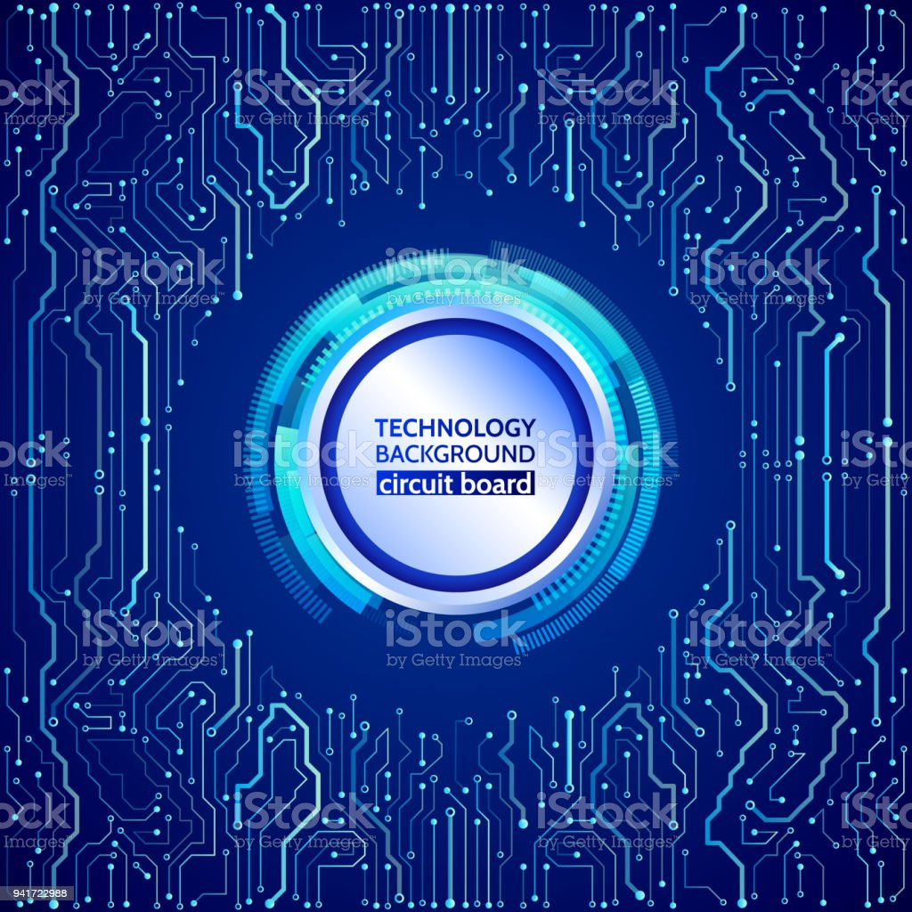 Circuit Board Vector Illustration Hightech Technology Background Abstact With And Binary Code Stock Images High Tech Texture Royalty Free
