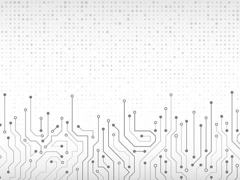 Circuit Board Vector Illustration - Immagini vettoriali stock e altre immagini di Affari finanza e industria