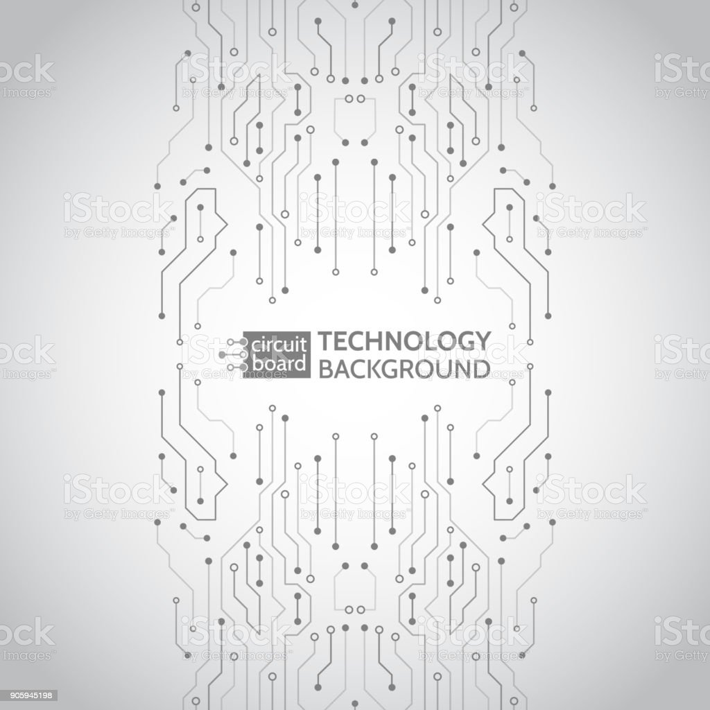 Circuit board vector illustration. vector art illustration