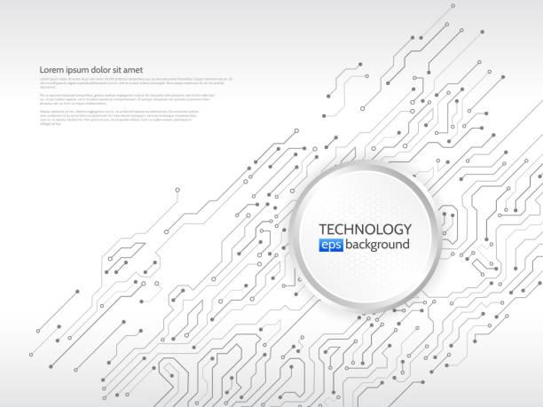 回路基板のベクトルの図。 - 半導体点のイラスト素材/クリップアート素材/マンガ素材/アイコン素材