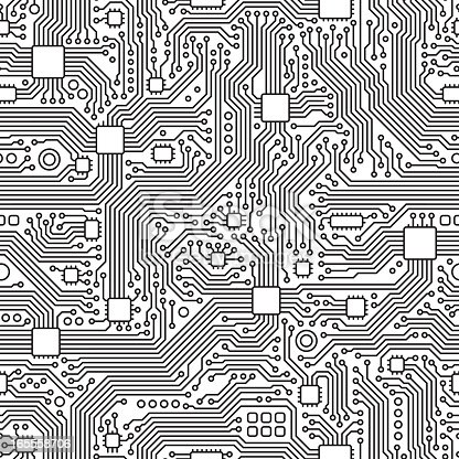 A detailed seamless tile circuit board texture. Can be easily colored and used in your design.