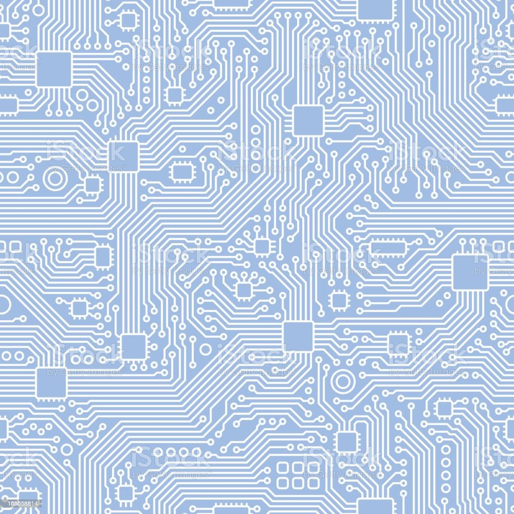 Circuit Board Vector - Seamless Tile vector art illustration
