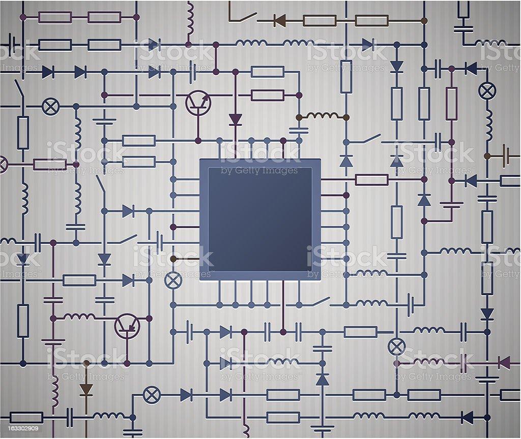 Circuito Y : Ilustración de diagrama de circuito y más banco de imágenes de