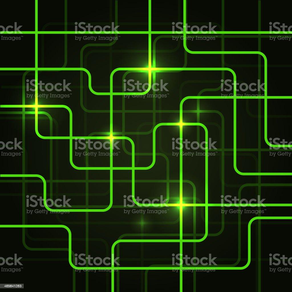 Circuito Eletrico : Ilustração de circuito elétrico de fundo abstrato e mais banco de