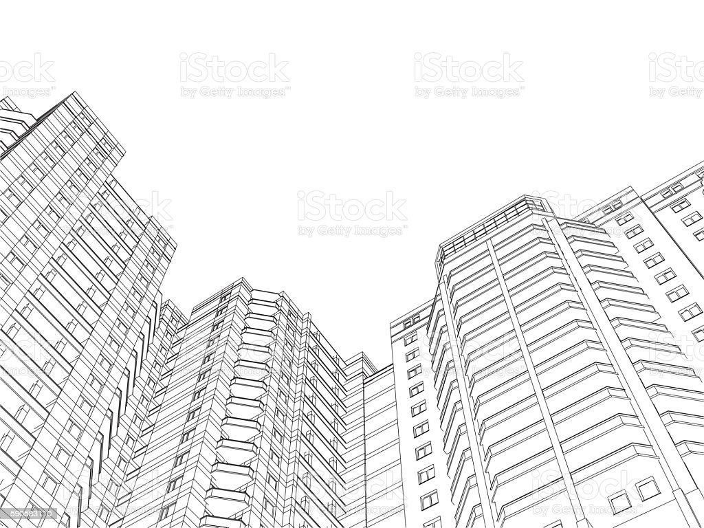 Circuit house vector art illustration
