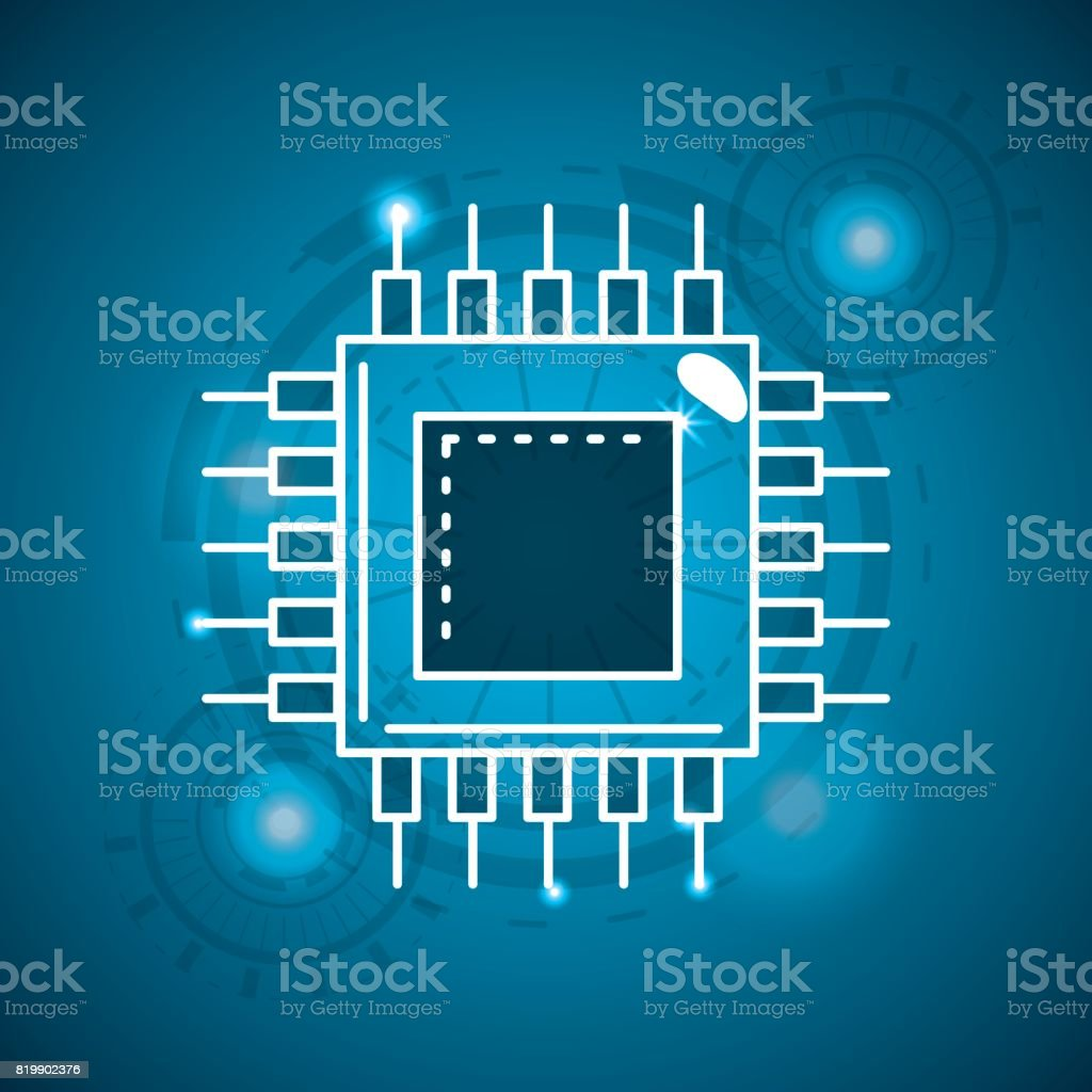 Circuit Information With Data Service Connect Stock Vector Art Electronic Design Services Royalty Free