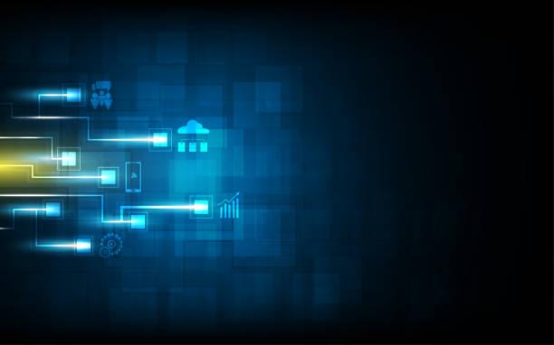 Stromkreis Muster digitale Krypto Währung innovatives Konzept Hintergrund – Vektorgrafik