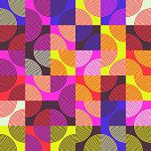 istock Circular Abstract Vector Pattern Design 1206731752