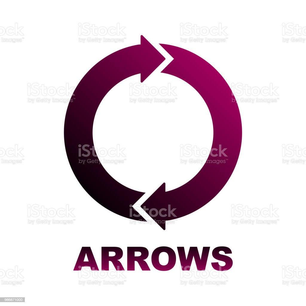 Circular Arrows Diagram Two Colored Arrows Stock Illustration - Download  Image Now