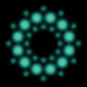 Circular background design 'crop circle' (Neon half tone set)