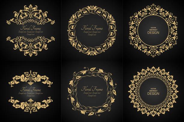 circular baroque patterns - renaissance style stock illustrations, clip art, cartoons, & icons