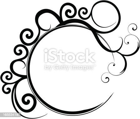 Circular Black Filigree Frame Stock Vector Art Amp More