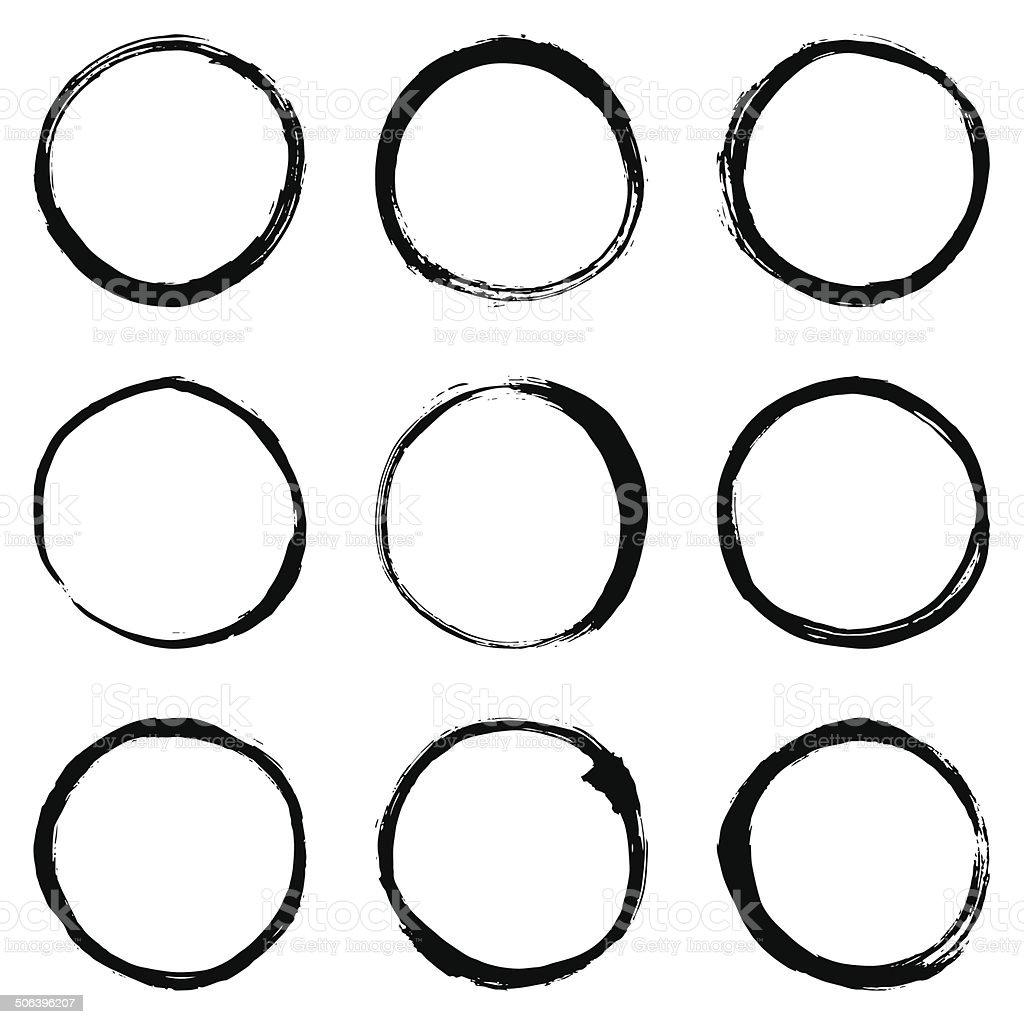 Circular pincelada de - ilustración de arte vectorial