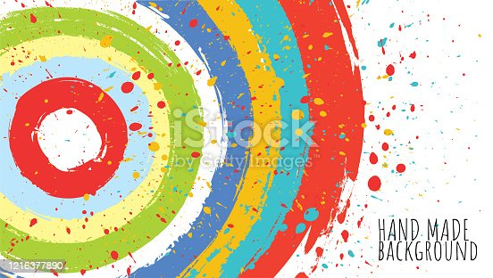 istock Circular brush strokes background 1216377890
