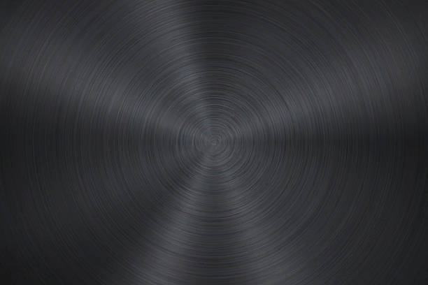 Circular Brushed Metal Texture Metal texture background can be used for design. With space for text. brushed metal stock illustrations