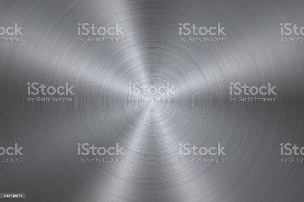 Circular Brushed Metal Texture向量藝術插圖