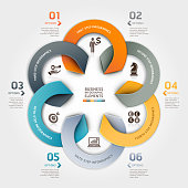 Modern business circle origami style options banner. Can be used for workflow layout, diagram, number options, step up options, web design, infographics.