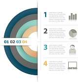 Circular business plan 4 steps. EPS10 vector image with transparancy.