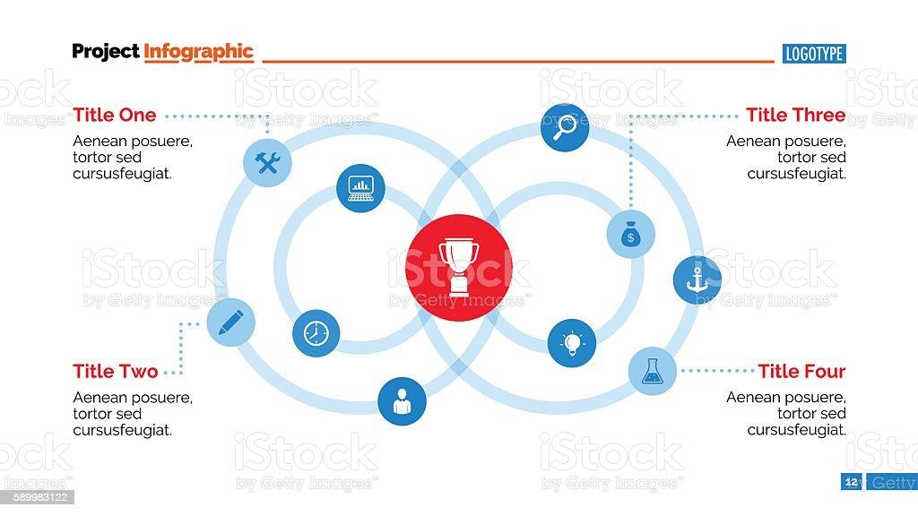 Ilustración de Plantilla De Diagrama Circular Deslizante y más banco ...