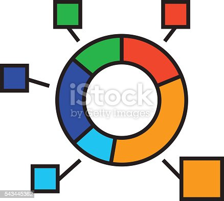 Circular diagram. Chart, analysis, statistics. Business concept. Can be used for topics like finance, presentation, business, analysis