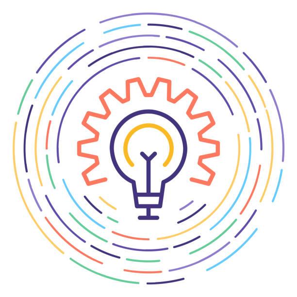 ilustrações de stock, clip art, desenhos animados e ícones de circular economy line icon illustration - economia circular