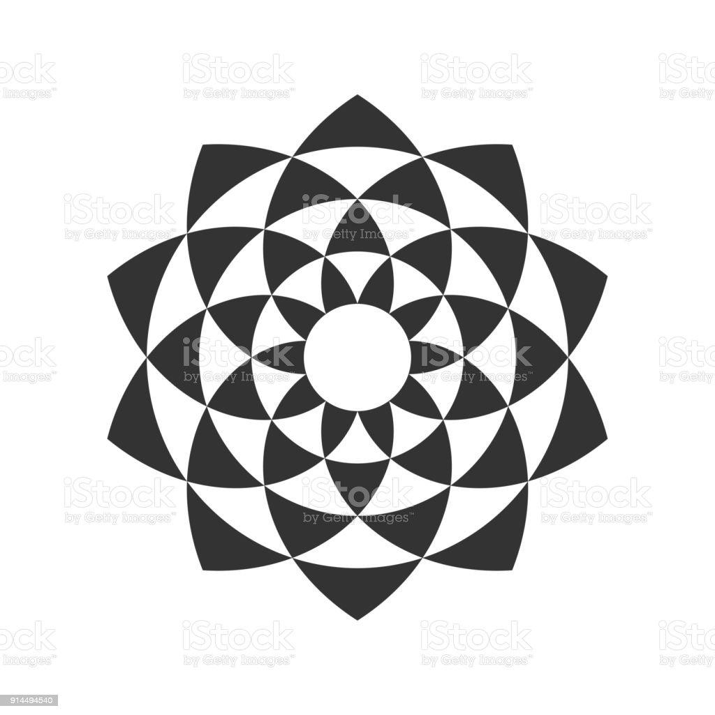 Ilustración de Diseño Fractal Circular y más banco de imágenes de ...