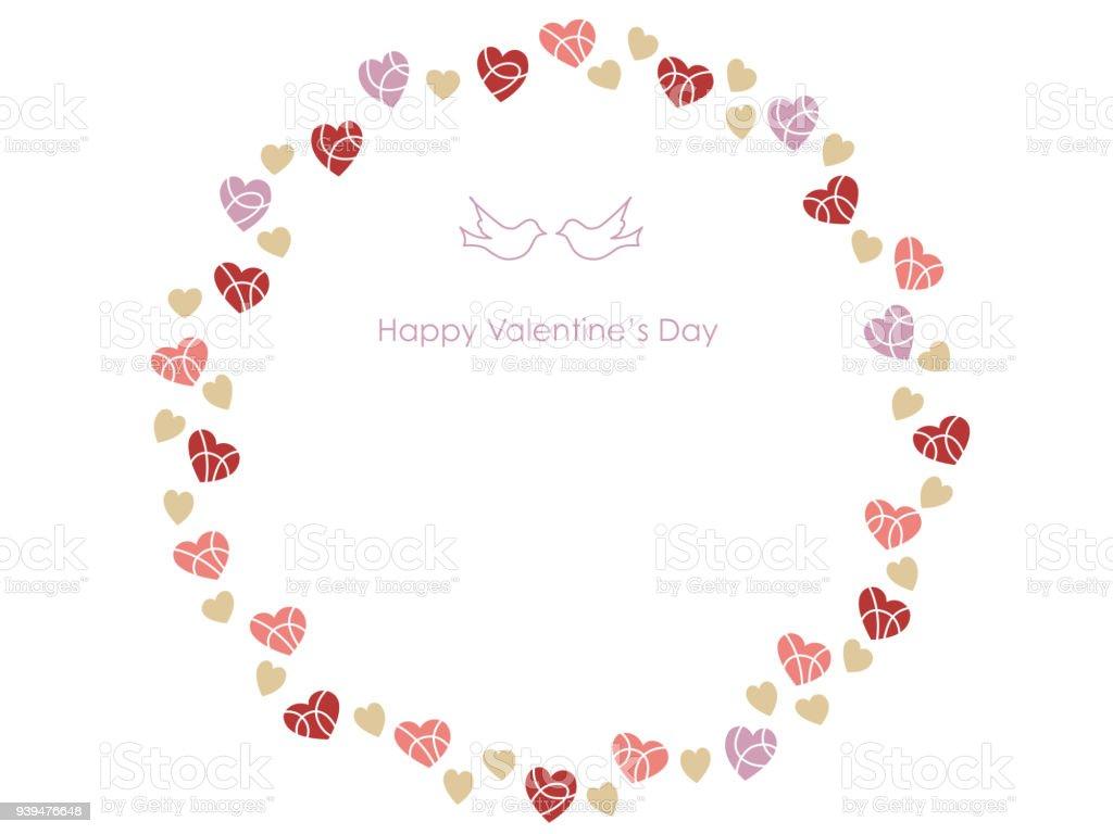 Ilustración de Marco Circular Para El Día De San Valentín Cumpleaños ...
