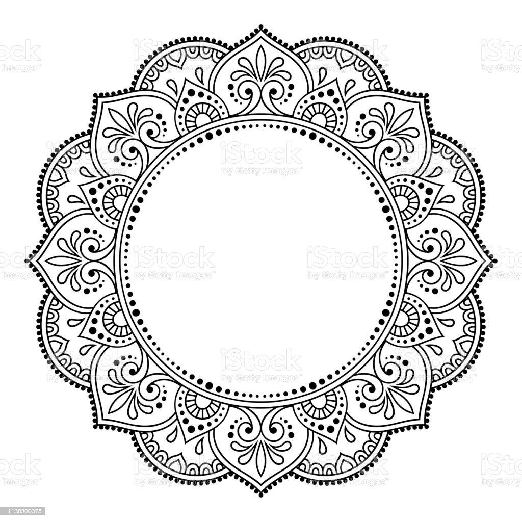 mod u00e8le de cadre circulaire en forme de mandala pour henn u00e9 mehndi tatouage d u00e9coration cadre