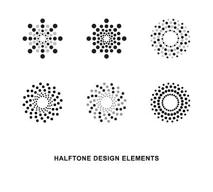 Circular halftone dots forms
