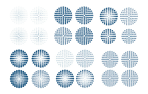 Circular halftone dots